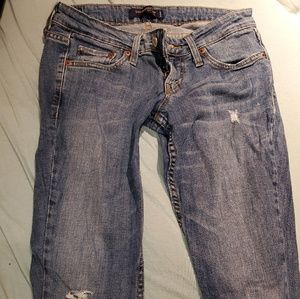 Levi's 524 distressed jeans size 1S
